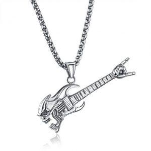 pendentif Tête de mort guitare
